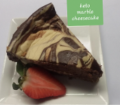 Keto Marble Cheesecake Slice